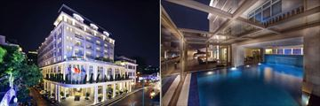 Hotel de L'Opera M Gallery, Exterior at Night and Indoor Pool with Open Air Terrace