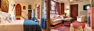 Chourouk and Nasr (left), plus Sinbad Suite at Hotel La Maison Arabe