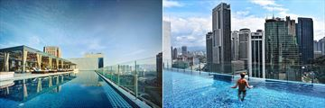 Infinity Pool Overlooking the City at Hotel Stripes Kuala Lumpur