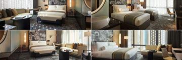Hotel Stripes Kuala Lumpur, (clockwise from left): Studio, Deluxe Twin, Executive Deluxe and Executive Studio
