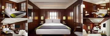 Hudson Hotel New York, (clockwise from top left): Superior Room, Standard Room, Deluxe Queen Room, Deluxe Studio and Studio