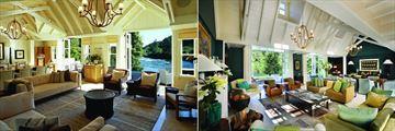 Huka Lodge, Owner's Cottage Lounge and Alan Pye Cottage Lounge