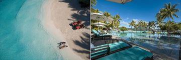 Intercontinental Bora Bora Resort Thalasso Spa, Aerial View of Beach and Main Pool
