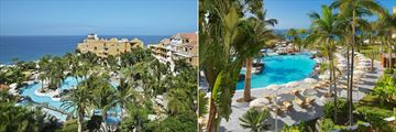 Aerial views of the pool at Hotel Jardines De Nivaria