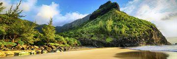 The Kalalau trail in Kauai