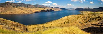 Panoramic of Kamloops in the summer