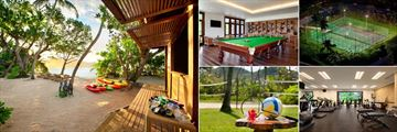 Kempinski Seychelles Resort Baie Lazare, Watersports Centre, Tital Lounge, Tennis Courts, Gym, Volleyball and Badminton Court