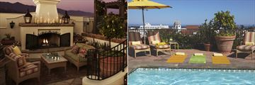 Rooftop Fireplace Lounge and Rooftop Pool at Kimpton Canary Hotel