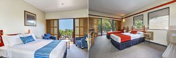 King Bay View Room and Wallum Lagoon View Room at Kingfisher Bay Resort - Fraser Island