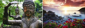 Koh Samui; Magic Garden, Sunset of the water