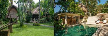 Tropical Gardens and Main Pool at Komaneka Ubud Monkey Forest