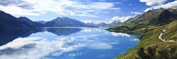 Beautiful views of Lake Wakatipu, South Island