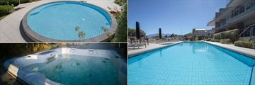 Lakeside Apartments, Wanaka, Children's Pool, Main Pool and Hot Tub