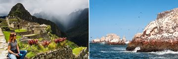 Misty views of Machu Picchu and gorgeous Ballestas Island