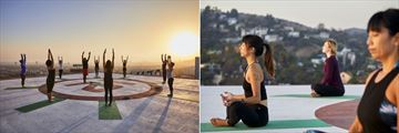 Helipad Yoga at Loews Hollywood Hotel