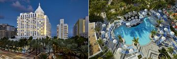 Loews Miami Beach Hotel, Exterior and Aerial View of Pool and Cabanas