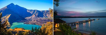 Mountain Rinjani Lombok, Private jetty in Lombok at sunset