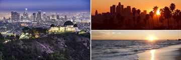 City and beach landscapes of Los Angeles, California
