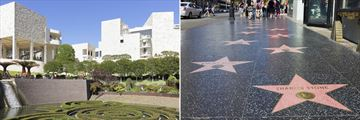 Getty Center and the Walk of Fame