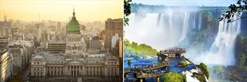 Buenos Aires (left), and Iguazu Falls on the Argentinean side (right)