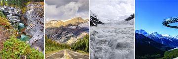 Maligne Canyon in Jasper, Icefield Parkway, Columbia Iceway & Glacier Skywalk
