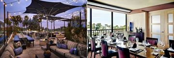 Sunset Terrace and Hook and Spear Dining at Marriott Newport Beach Hotel & Spa