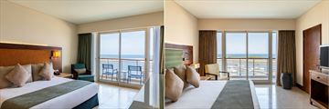 Superior Room and Executive Suite bedroom at Millennium Resort Mussanah