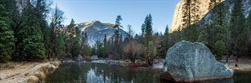 Mirror Lake in Yosemite National Park, California