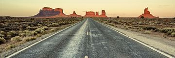 Road tripping through Monument Valley