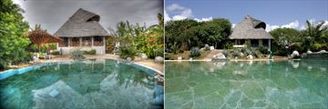 Private Villa 1 and Private Villa 2 Exteriors and Pools at Msambweni Beach House & Private Villas