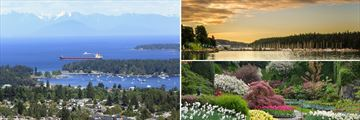 Nanaimo Waterfront & Butchart Gardens in Victoria