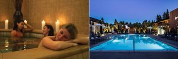 Indoor Jacuzzi and Outdoor Pool at Napa Valley Marriott Hotel & Spa