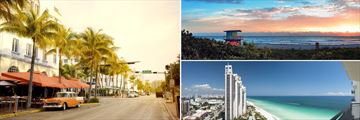 Ocean Drive, Beachfront & Cityscapes of Miami, Florida