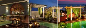 Lobby Lounge, Cabanas at Night and Cabana Bar at Ocean Key Resort & Spa