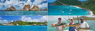 Excursions to The Indians, Jost Van Dyke, Fishing and The Baths at Oil Nut Bay