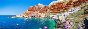 Old harbour of Ammoudi, Santorini