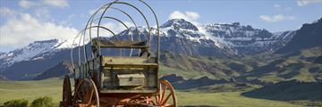 Old wagons in Wyoming