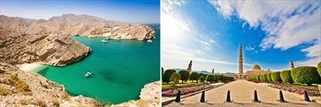 Oman Coast Green lagoon, Grand Mosque Oman