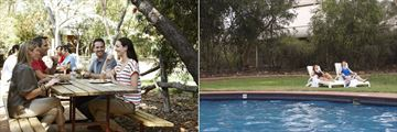 Outback Pioneer Hotel, Alfresco Dining and Outdoor Pool