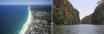 Aerial view of Perth and Katherine Gorge