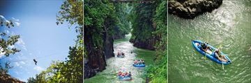 Canopy walks, white water rafting and kayaking at Pacuare Lodge
