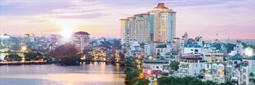 Pan Pacific Hanoi, Hotel Overlooking West Lake and City Skyline