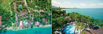 Paradise Beach Resort, Koh Samui, Aerial View of Resort