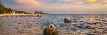 Phu Quoc beach at sunset