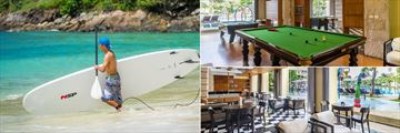 Phuket Marriott Resort & Spa, Merlin Beach, Paddle Boarding, Snooker and Pool Tables in the Teen Room