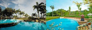 Shangri-La Rasa Rai Resort & Spa pools