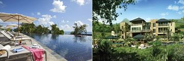 Raffles Seychelles, Infinity Pool and Resort