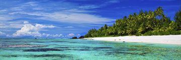 A remote beach on Rarotonga