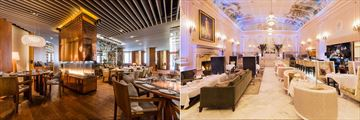 Ritz-Carlton Montreal, Mainon Boulud Interior and Dom Perignon Bar in the Palm Court