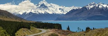 Winding roads near Mount Cook